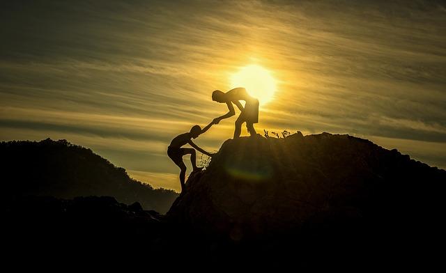 pomoc při lezení