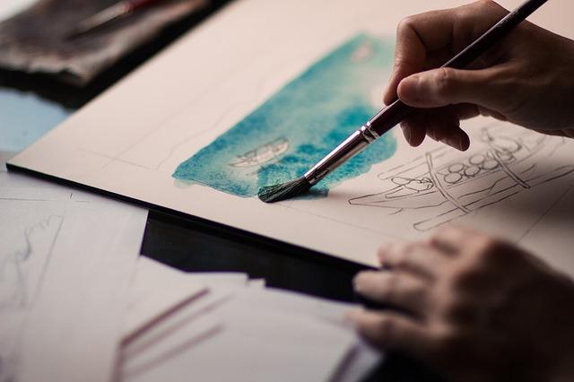 malování na papír